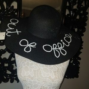 Nicole Marciano Accessories - NWT Nicole Marciano OUT OF OFFICE Wide Brimmed Hat